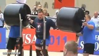Strongman Squats 725lb for Reps