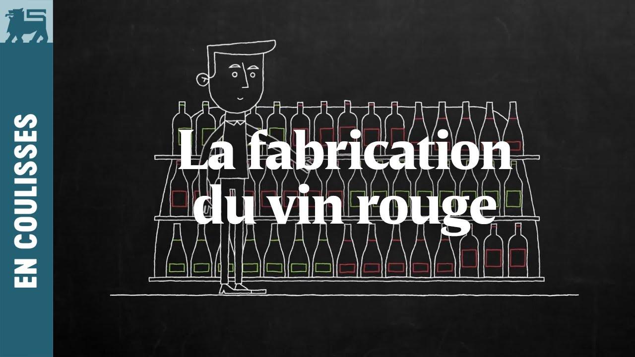 La fabrication du vin rouge