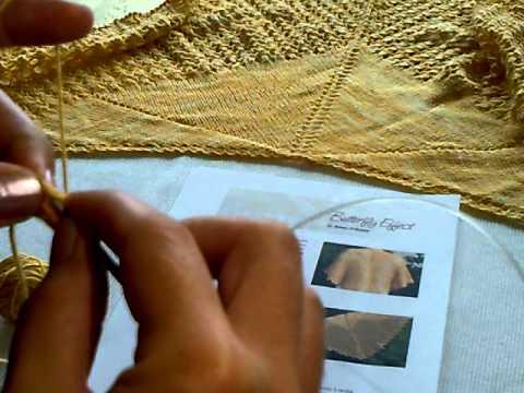 Jak zacząć chustę na drutach.
