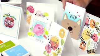 Learn Swipe Stamping and Watercolor Techniques with Simon Hurley