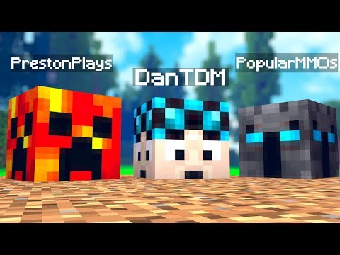 Minecraft YouTuber Lucky Block Mod Challenge (PrestonPlays, DanTDM, PopularMMOS) | JeromeASF