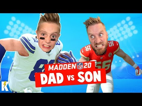 DAD vs SON in MADDEN NFL 20 (Closest Game EVER!) K-City GAMING