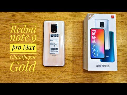 Champagne Gold Color   Note 9 pro Max   Redmi   Xiaomi