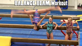 Balance Beam Workout | Whitney Bjerken Gymnastics