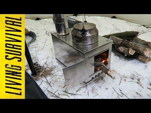 Seek Outside Titanium Wood Stove First Burn