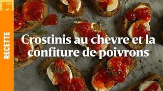 Crostinis à la confiture de poivrons