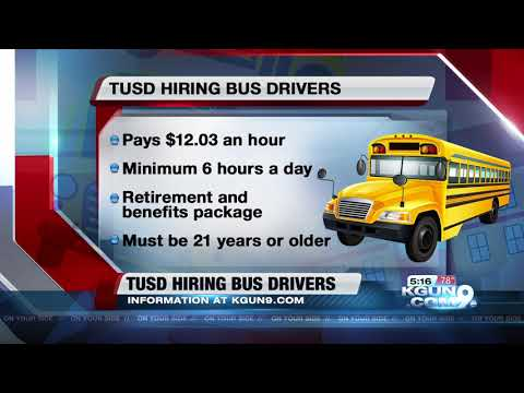 TUSD Hiring School Bus Drivers Immediately