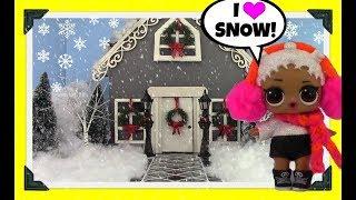 LOL Surprise Dolls Play at Snow Angels House + L.O.L. Surprise Pets & LPS Littlest Pet Shop