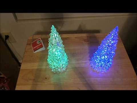 Two Musical LED Christmas Tree Decorations