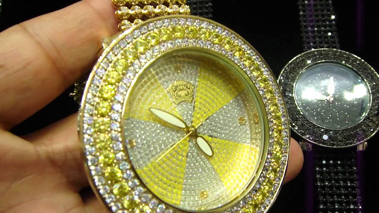 Mr Chris Da Jeweler Custom Lab Diamond Watch With Icy band For Only  120.00 ec0ed5055