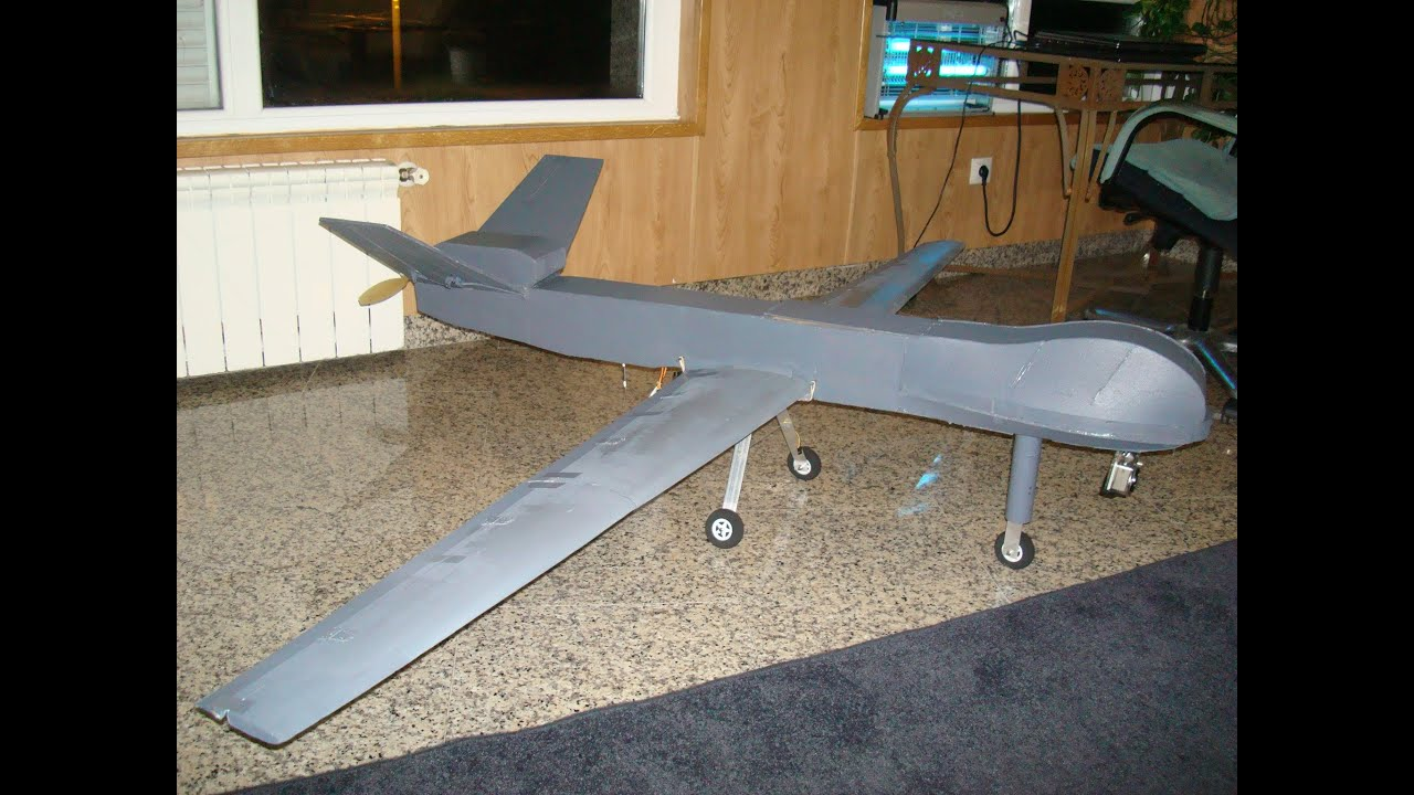 Scratch Built UAV Predator MQ9 Reaper Drone Onboard Cam High Altitude And Gliding