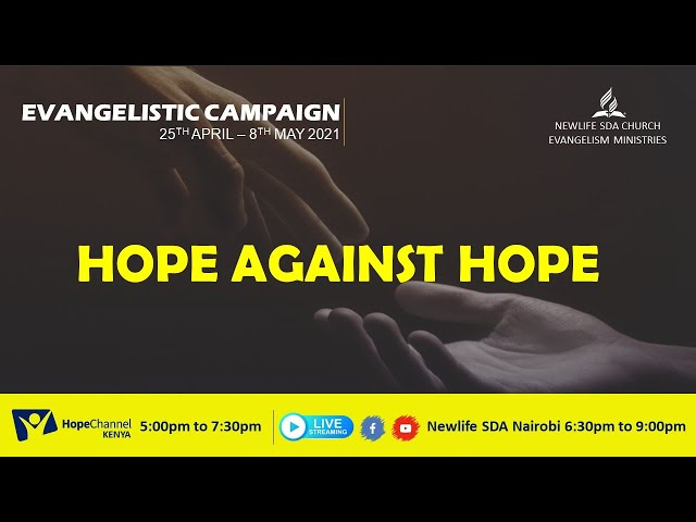 Hope Against Hope Series Day 014| 07 May 2021