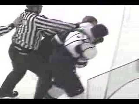 Sioux Mavericks Hockey Fight