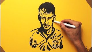 Neymar Júnior Speed Drawing  FAN ART