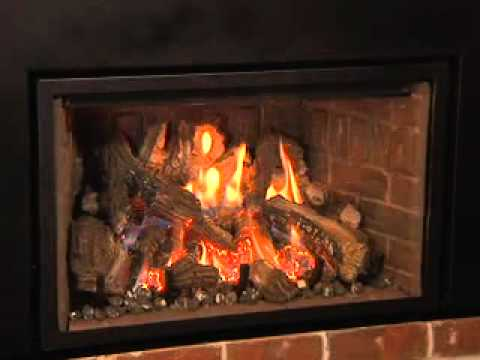 Mendota Fireplace Full View FV33i - YouTube