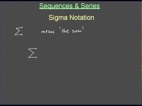Writing an arithmetic sequence in sigma notation
