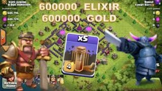 CLASH OF CLANS/ 5 EARTHQUAKE SPELLS AND 6 MILLIONS OF LOOT