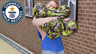Most bowling balls held at once - Guinness World Records