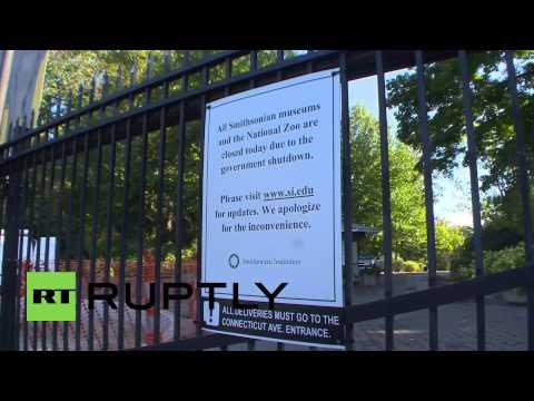 USA: Government shutdown closes National Zoo gates to children