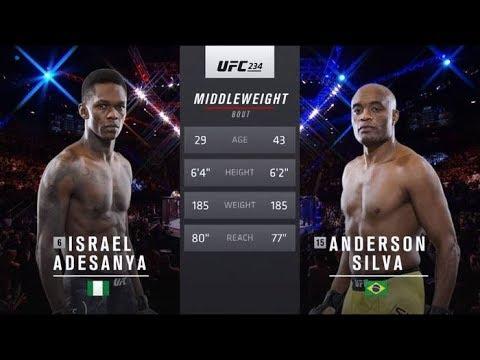UFC 243 Free Fight : Israel Adesanya Vs Anderson Silva