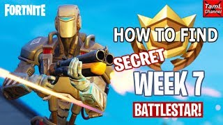 Comment trouver SECRET Semaine 7 Battlestar Emplacement! Plus a.I.M gameplay! (Fortnite Battle Royale)