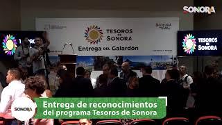 Entrega de reconocimientos del programa Tesoros de Sonora