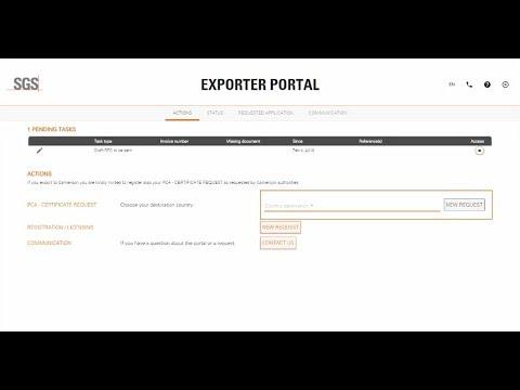 SGS Exporter Portal