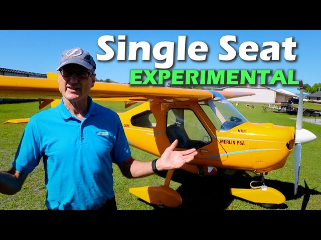 Single Seat Merlin Experimental Kit Aircraft YOU CAN AFFORD