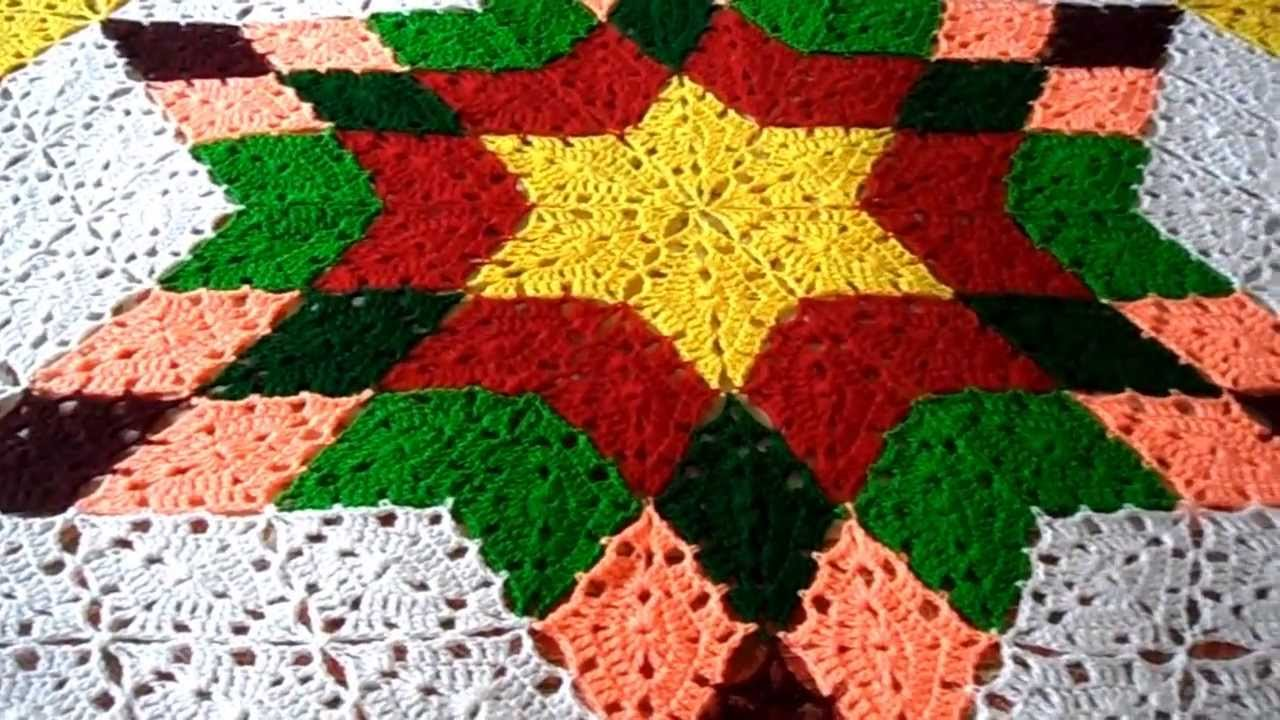 Crochet Prairie Star Afghan Shawl Youtube