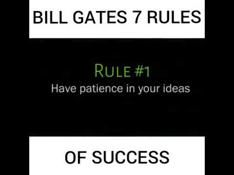 Bill Gate's seven (7) rules of success! Motivate, #davidlim