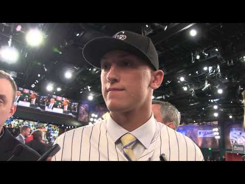 Mike Nikorak's reaction being drafted 27th by the Rockies