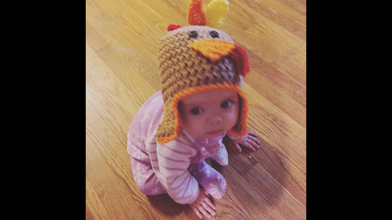 Turkey Baby hat tutorial! - YouTube