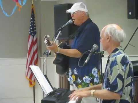 The Elderly Brothers, TBone Stankus and Brian Gillie, perform Rock Around the Clock