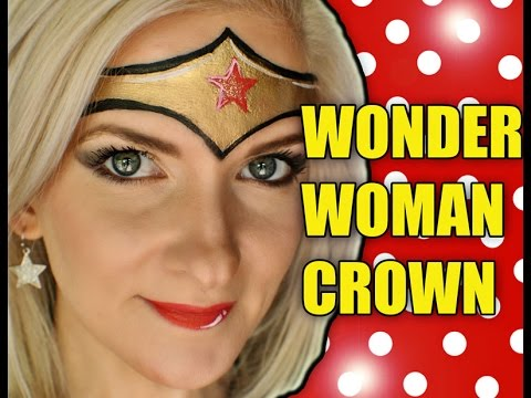 Fast Easy Wonder Woman Crown Makeup Face Painting Tutorial Youtube