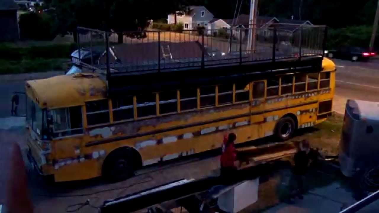 Ultimate School Bus To Party Bus Conversion Youtube