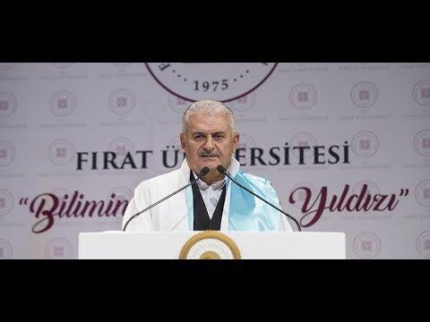 Başbakan Yıldırım, Fırat Üniversitesi Akademik Yıl Açılışı'nda konuştu