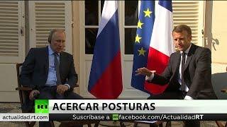 Macron y Putin buscan intensificar lazos y crear sistema de seguridad