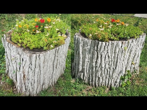 2 Creative Log Wood with Flowers Design Ideas 2020 Part.5