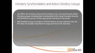 Office 365  Managing Active Directory Security Groups and Mail Enabling Objects