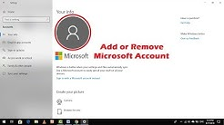 Easy Guide to Add or Remove Microsoft Account on Windows 10