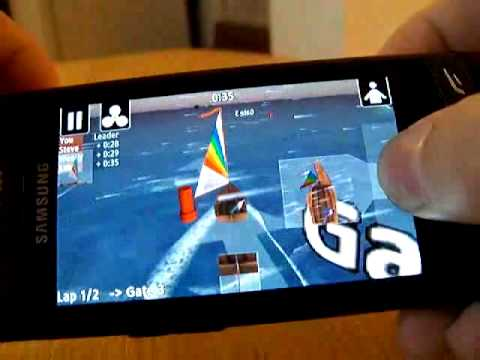 Top Sailor sailing simulator running on Samsung Wave