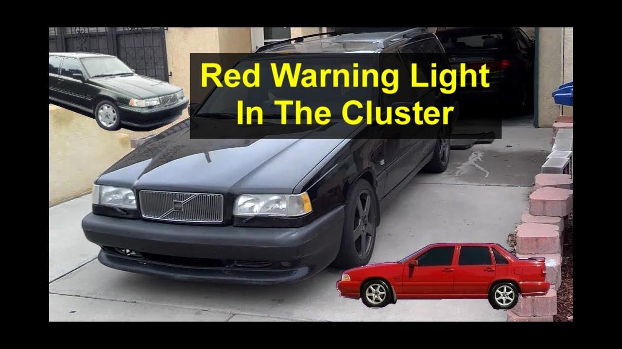 Red Light Dot In Dash Cluster Snowflake Light On Volvo Warning