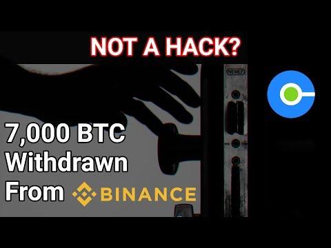 Binance Has 7,000 BTC Stolen From Hot Wallet