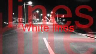 White Lines by Alexz Johnson with lyrics