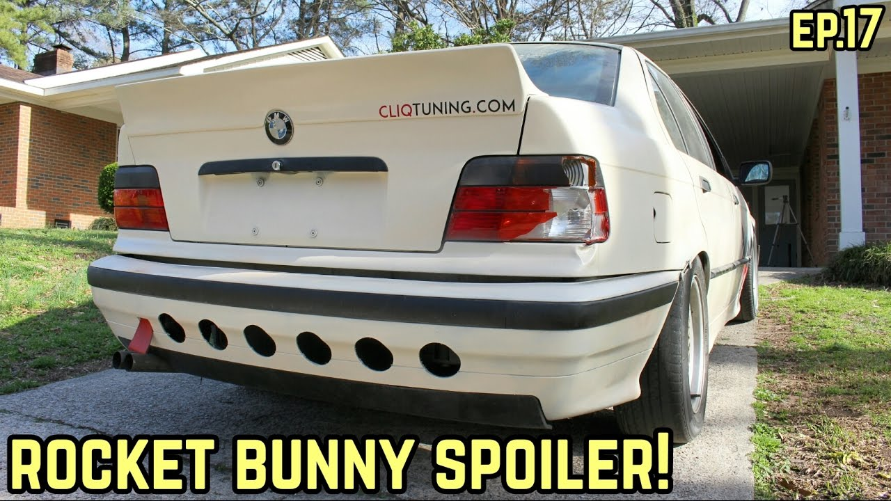 Rocket Bunny Ducktail Spoiler Install Bmw E36 325i