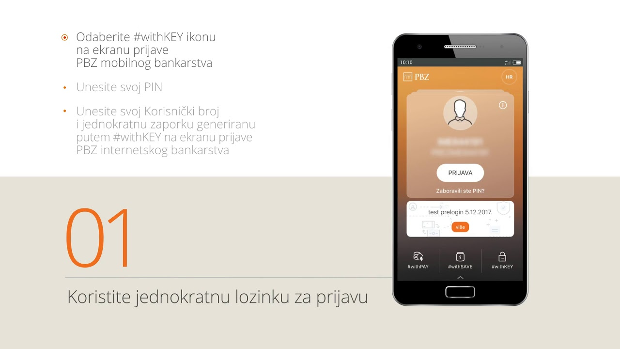 Withkey I Pametna Prijava Pbz Digitalno Bankarstvo Video Upute Youtube