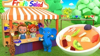 Fruit Salad Making - Learning Kids Activities | Babies Fun Activity Fruit Salad for Elephant Giraffe