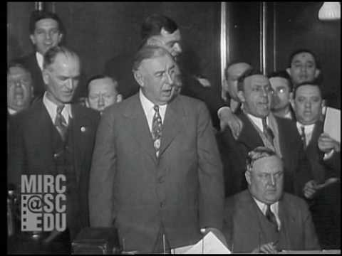Former Chicago mayor Big Bill Thompson celebrates his 1931 Republican primary victory