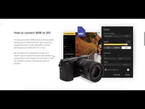 convert arw to jpg online
