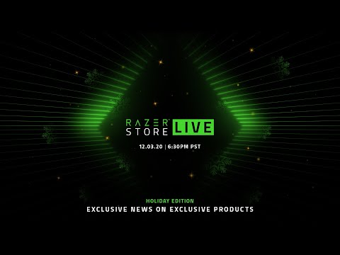 RazerStore LIVE | Exclusive News on Exclusive Products (Holiday Edition)
